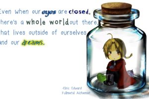 Full Metal Alchemist, Elric Edward, Quote, Chibi, Anime