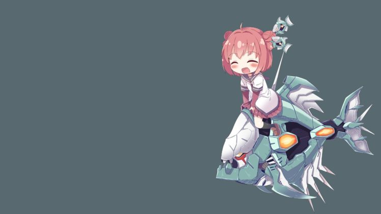 Anime Girls Solid Color Yuru Yuri Akaza Akari HD Wallpaper Desktop Background