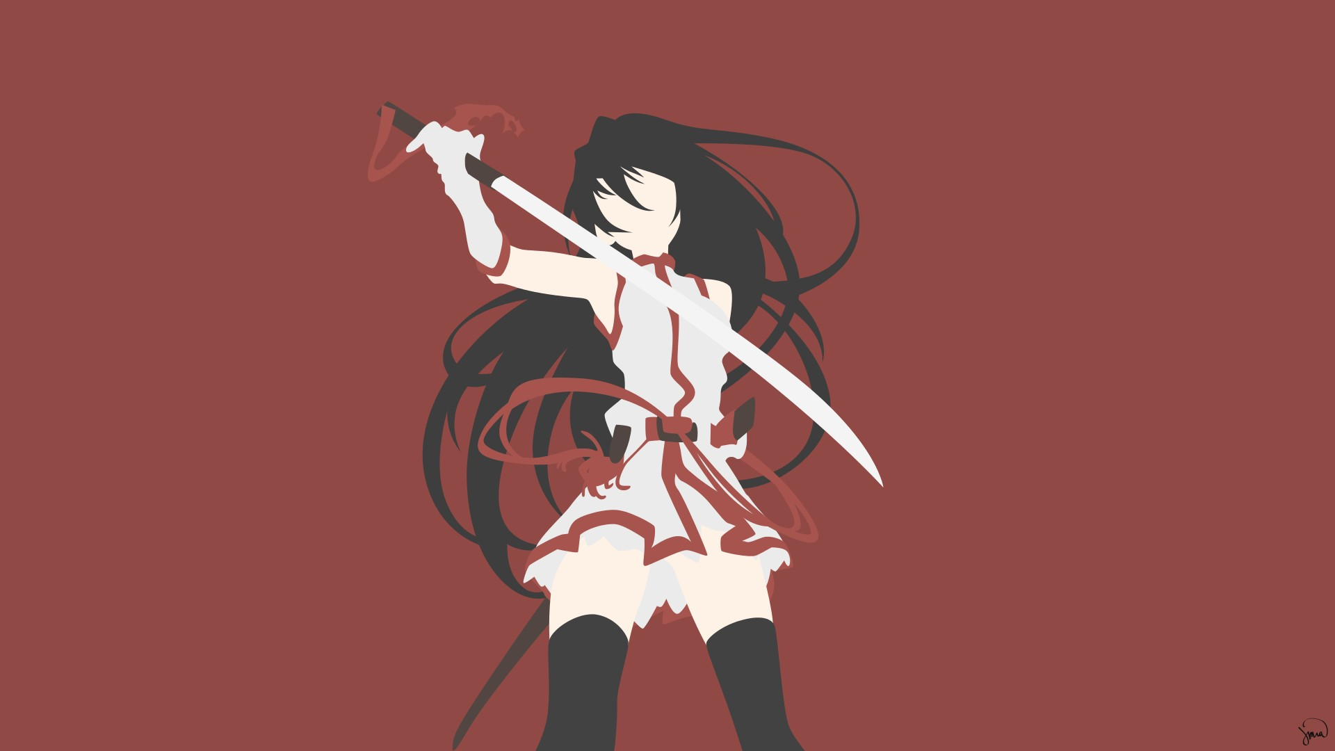 Akame ga Kill!, Akame, Thigh highs Wallpaper