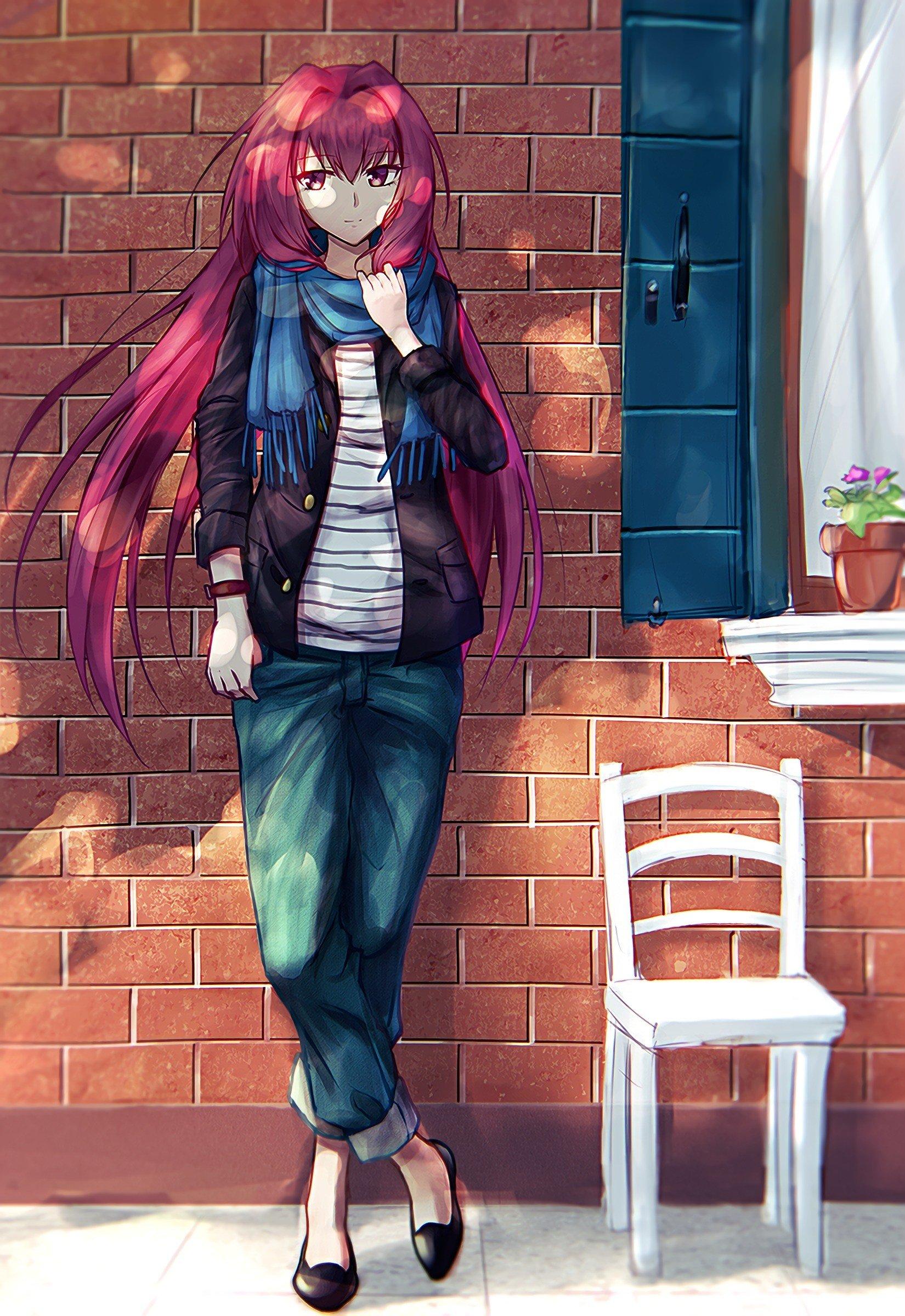 long hair, Redhead, Red eyes, Anime, Anime girls, Fate ...