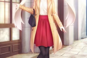 long hair, White hair, Green eyes, Anime, Anime girls, Fate Grand Order, Marie Antoinette
