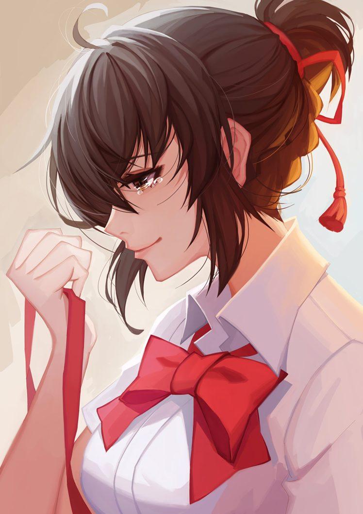 Brunette Anime Anime Girls Miyamizu Mitsuha Kimi No Na