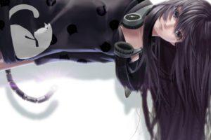 anime girls, Headphones