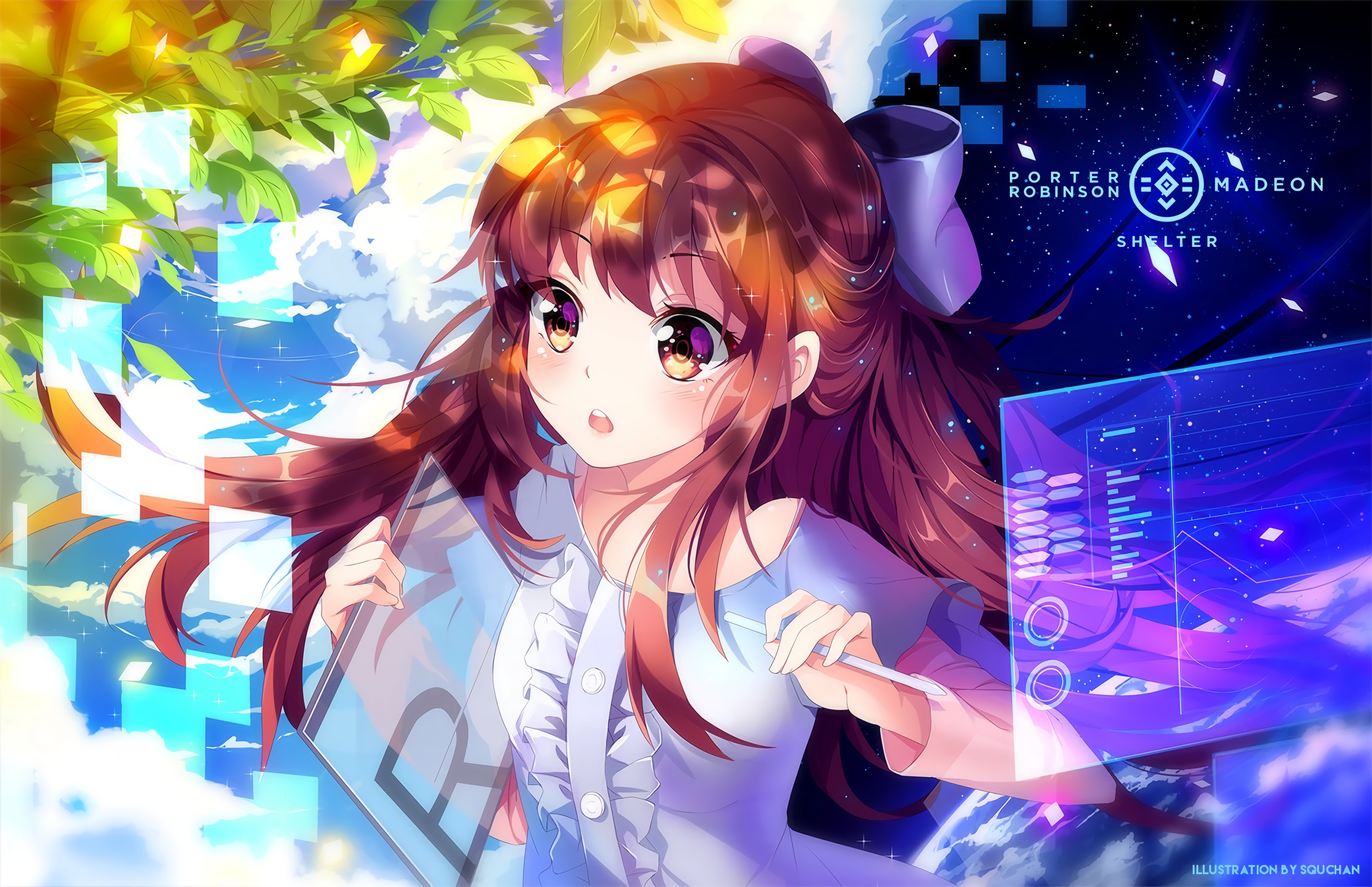 Porter Robinson Long Hair Brunette Anime Anime Girls Shelter Rin Shelter Hd Wallpapers Desktop And Mobile Images Photos