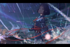 short hair, Anime, Anime girls, Your name., Miyamizu Mitsuha, Kimono, Japanese clothes, Crying