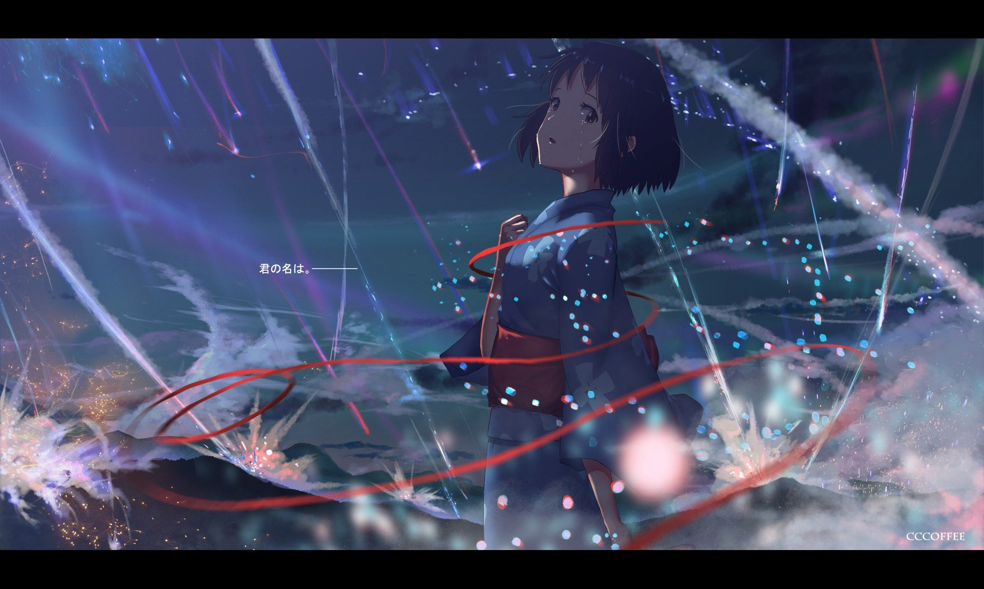 Short hair anime anime girls your name miyamizu - Wallpaper hd 1920x1080 anime ...