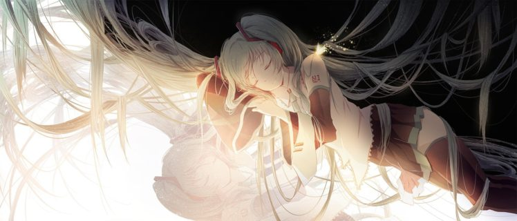 long hair, Simple background, Butterfly, Hatsune Miku, Twintails, Vocaloid, Anime girls, Anime HD Wallpaper Desktop Background