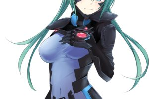 happiness, Long hair, Blue eyes, Anime, Anime girls, Cui Yifei, Bodysuit, Aqua hair, Twintails, Muv Luv