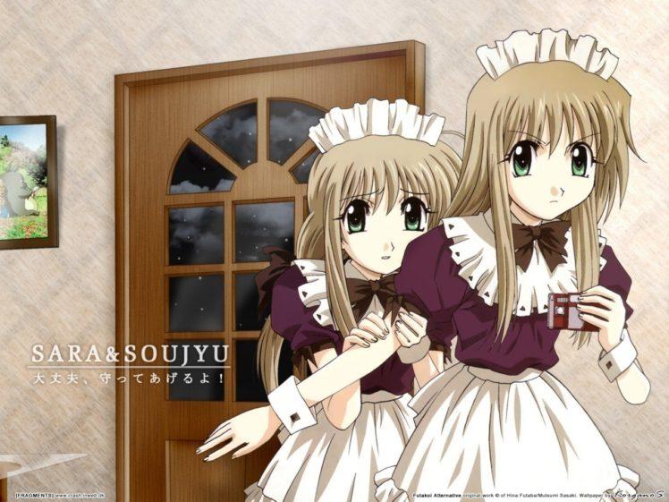 anime girls, Futakoi Alternative, Shirogane Sara, Shirogane Sōju HD Wallpaper Desktop Background