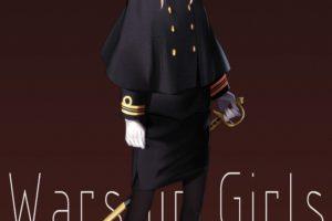 long hair, Blonde, Blue eyes, Anime, Anime girls, Warship Girls, Uniform, Sword, Twintails