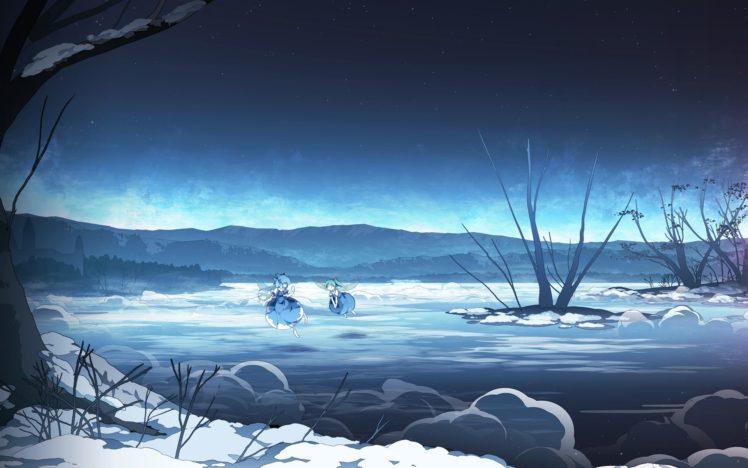 Touhou, Landscape, Night HD Wallpaper Desktop Background