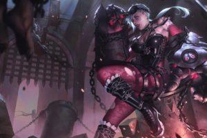 Vi (League of Legends), Summoner&039;s Rift, Fan art, Gothic, League of Legends
