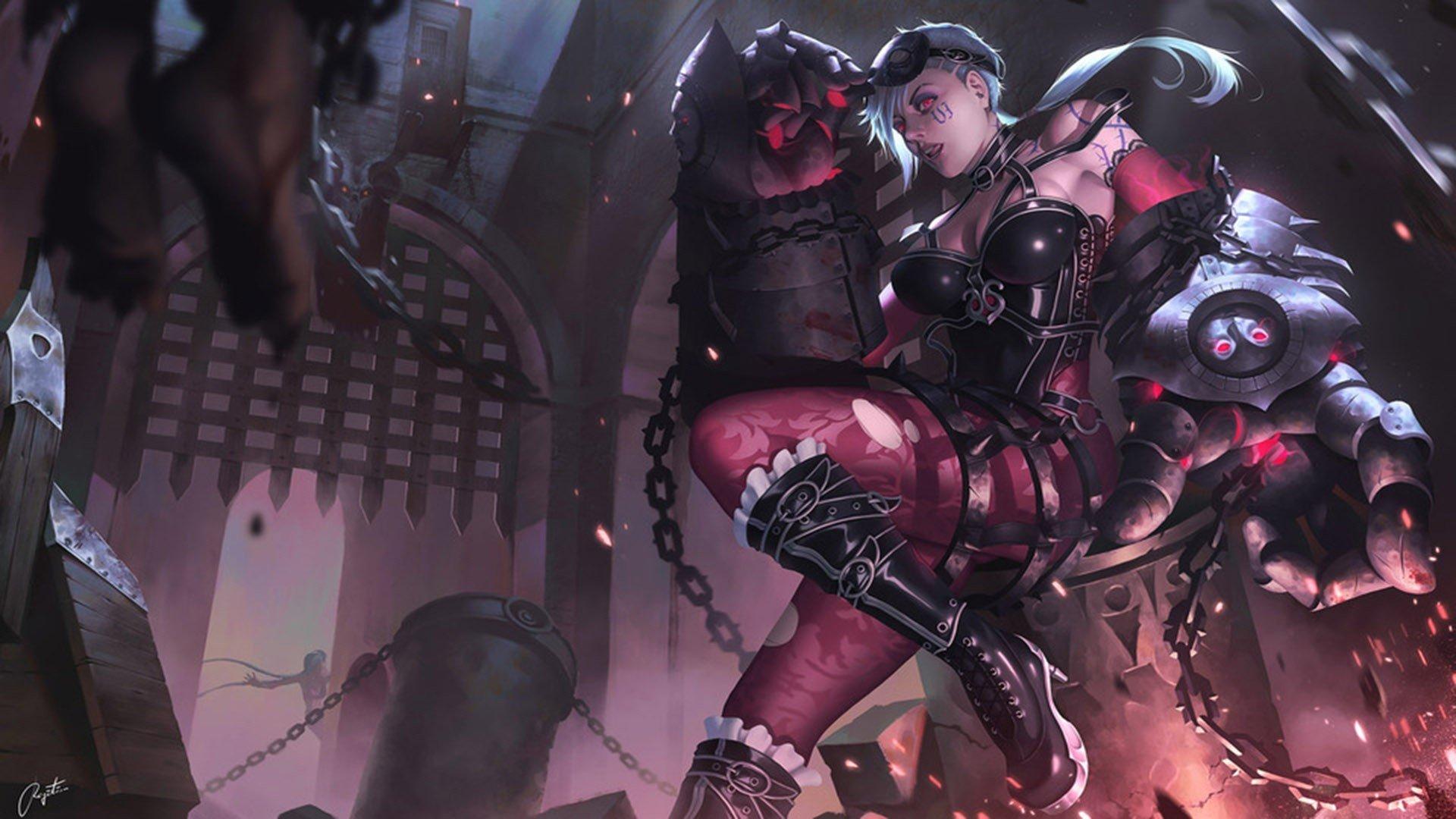 Vi League Of Legends Summoner 039 S Rift Fan Art Gothic