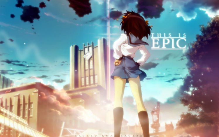 The Melancholy of Haruhi Suzumiya, Anime girls, Suzumiya Haruhi HD Wallpaper Desktop Background