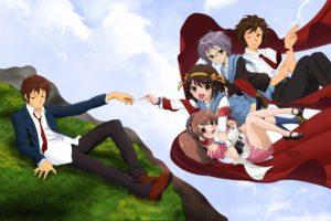 The Melancholy of Haruhi Suzumiya, Suzumiya Haruhi, Asahina Mikuru, Nagato Yuki, Kyon, Koizumi Itsuki