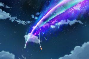 your name., Kimi no na wa, Night, Clouds
