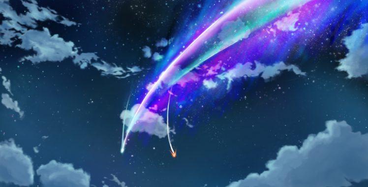 Your Name., Kimi No Na Wa, Night, Clouds HD Wallpapers