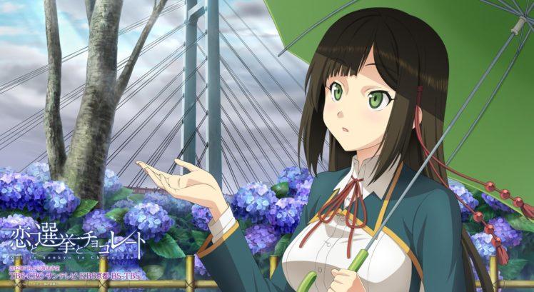 anime girls, Koi to Senkyo to Chocolate, Shinonome Satsuki HD Wallpaper Desktop Background