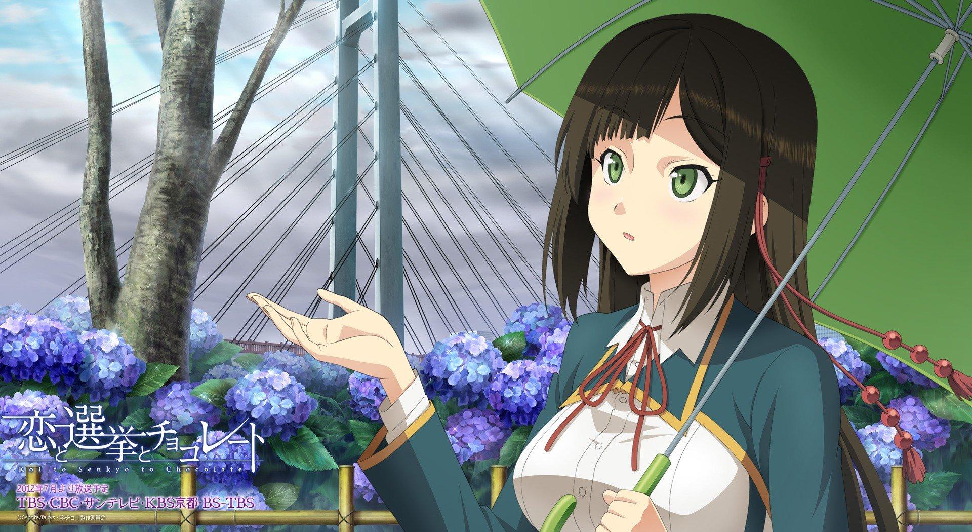 anime girls, Koi to Senkyo to Chocolate, Shinonome Satsuki Wallpaper