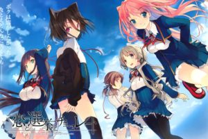 anime girls, Koi to Senkyo to Chocolate, Shinonome Satsuki, Sumiyoshi Chisato, Aomi Isara, Morishita Michiru, Kiba Mifuyu