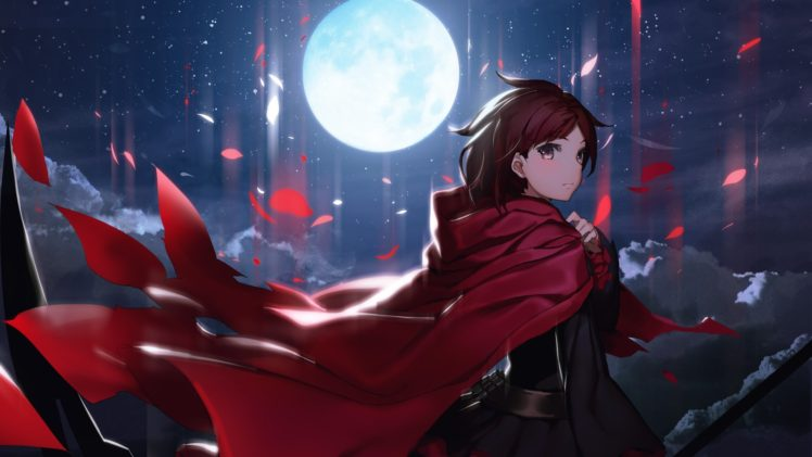 Moon, Anime girls, RWBY HD Wallpaper Desktop Background