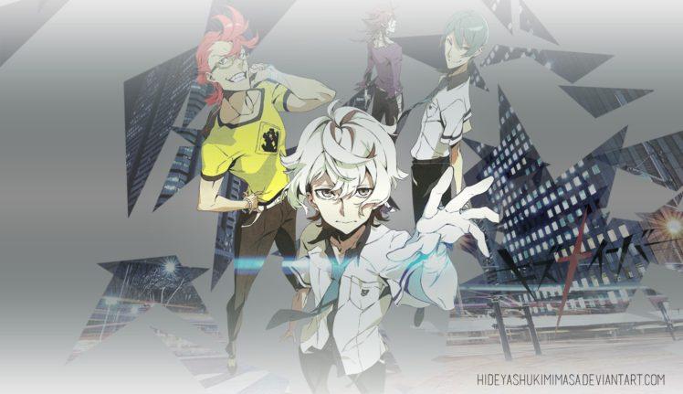 Kiznaiver, Tenga Hajime, Katsuhira Agata, Yuta Tsuguhito, Hisomu Yoshiharu, Anime boys HD Wallpaper Desktop Background