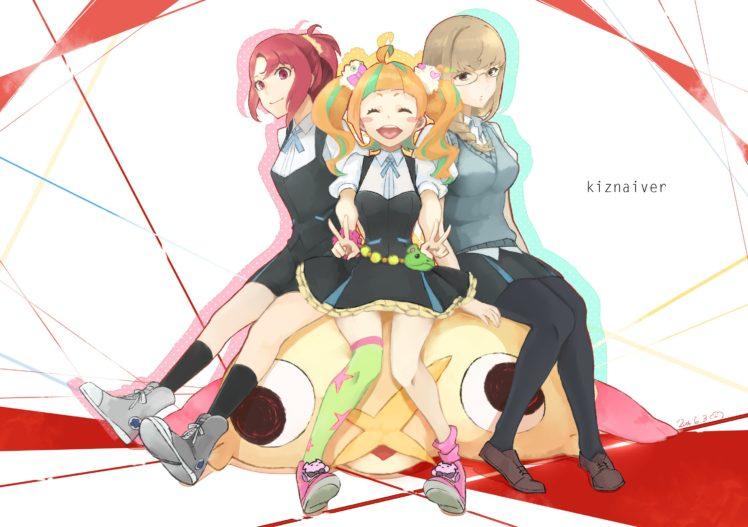 Honoka Maki, Kiznaiver, Anime girls, Niiyama Niko, Takashiro Chidori HD Wallpaper Desktop Background