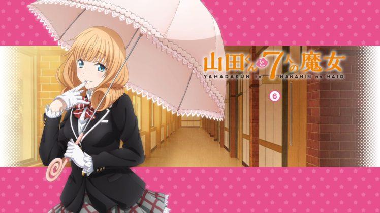 Yamada kun to 7 nin no Majo, Anime girls, Saionji Rika HD Wallpaper Desktop Background