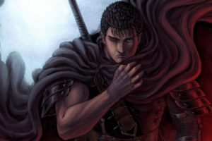 short hair, Warrior, Anime, Anime boys, Berserk, Guts, Black hair, Armor, Fantasy art
