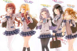 anime girls, Tsuruma Konoe, Kannagi Miyabi, Kono Naka ni Hitori Imouto ga Iru!, Kunitachi Rinka, Sagara Mei, Tendō Mana