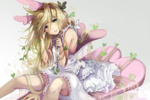 original characters, Long hair, Blond hair, Dress