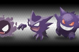 Haunter, Gengar, Pokémon, Gastly, Low poly