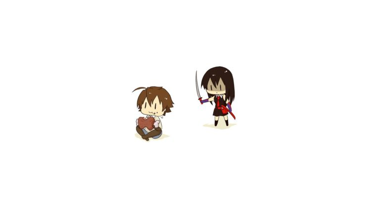 Takumi, Akame ga Kill!, Akame, Chibi HD Wallpaper Desktop Background