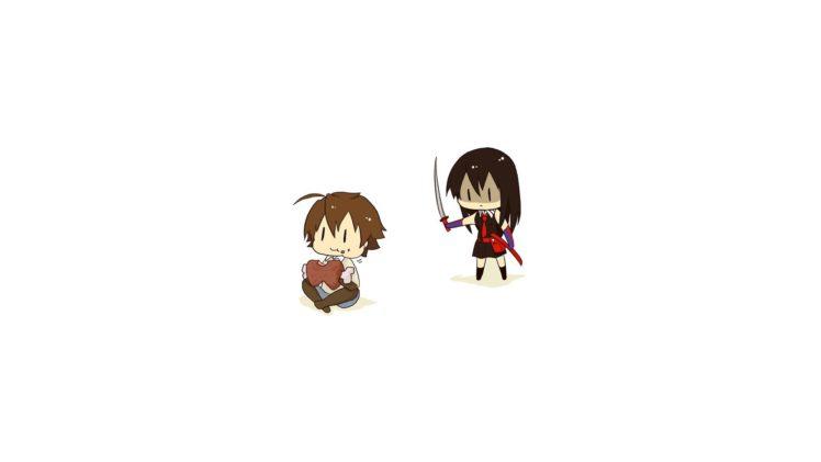 Takumi, Akame ga Kill!, Akame, Chibi HD Wallpaper Desktop Background