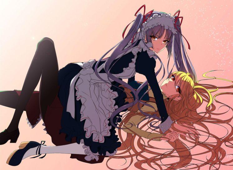 Maria † Holic, Anime girls, Shinōji Matsurika, Shidō Mariya, Yuri HD Wallpaper Desktop Background
