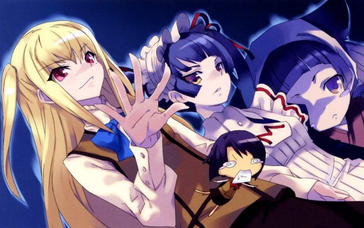 Maria † Holic, Shinōji Matsurika, Ryōchō sensei, Shidō Mariya, Miyamae Kanako, Anime girls, Yuri HD Wallpaper Desktop Background
