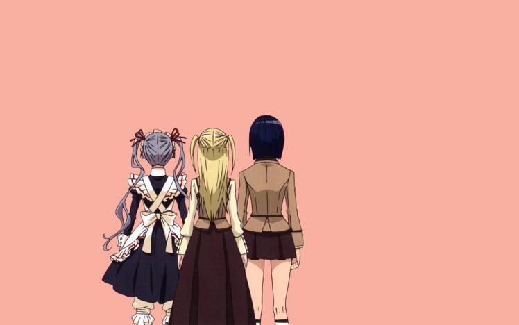 Maria † Holic, Shinōji Matsurika, Shidō Mariya, Miyamae Kanako, Anime girls HD Wallpaper Desktop Background