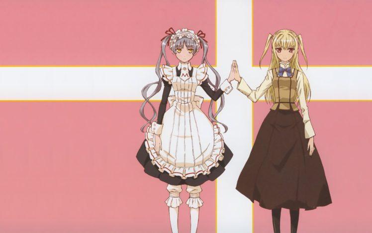 Maria † Holic, Anime girls, Shinōji Matsurika, Shidō Mariya HD Wallpaper Desktop Background