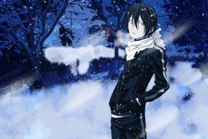 anime, Noragami, Yato (Noragami), Snow, Winter