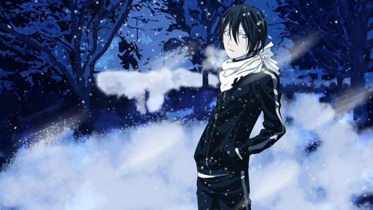 468202 anime Noragami Yato Noragami snow winter