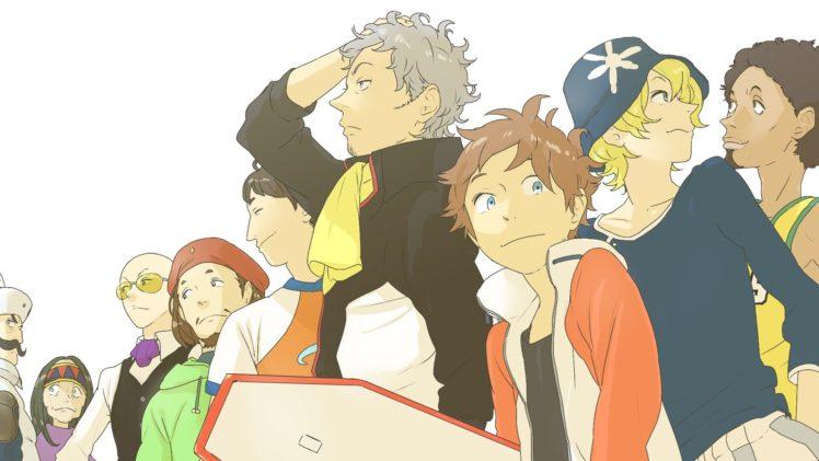 Eureka Seven, Thurston Renton, Novak Holland, Jobs (Eureka Seven), Ken Goh, Matthieu (Eureka Seven), Moondoggie, Hap (Eureka Seven), Stoner (Eureka Seven), Woz (Eureka Seven), Anime HD Wallpaper Desktop Background