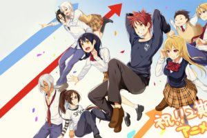 Shokugeki no Souma, Nakiri Erina, Nakiri Alice, Yukihira Soma, Tadokoro Megumi, Hayama Akira, Aldini Takumi, Kurokiba Ryo, Anime