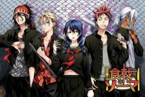 Shokugeki no Souma, Yukihira Soma, Tadokoro Megumi, Hayama Akira, Aldini Takumi, Kurokiba Ryo, Anime