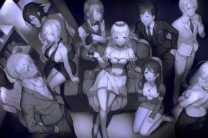 Shokugeki no Souma, Nakiri Erina, Nakiri Alice, Yukihira Soma, Tadokoro Megumi, Hayama Akira, Aldini Takumi, Kurokiba Ryo, Anime girls, Anime