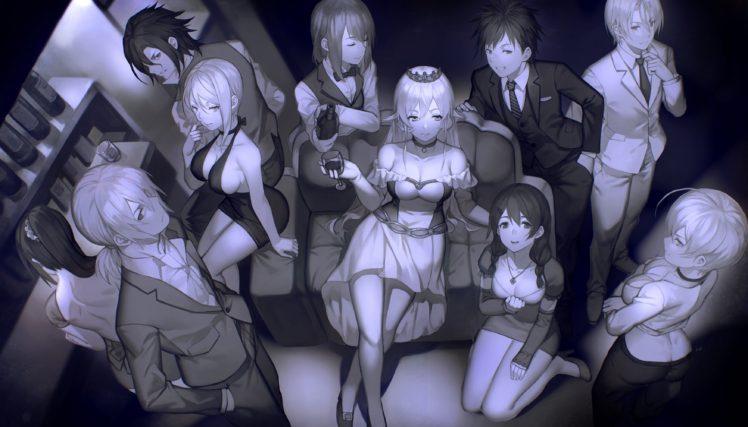 Shokugeki no Souma, Nakiri Erina, Nakiri Alice, Yukihira Soma, Tadokoro Megumi, Hayama Akira, Aldini Takumi, Kurokiba Ryo, Anime girls, Anime HD Wallpaper Desktop Background