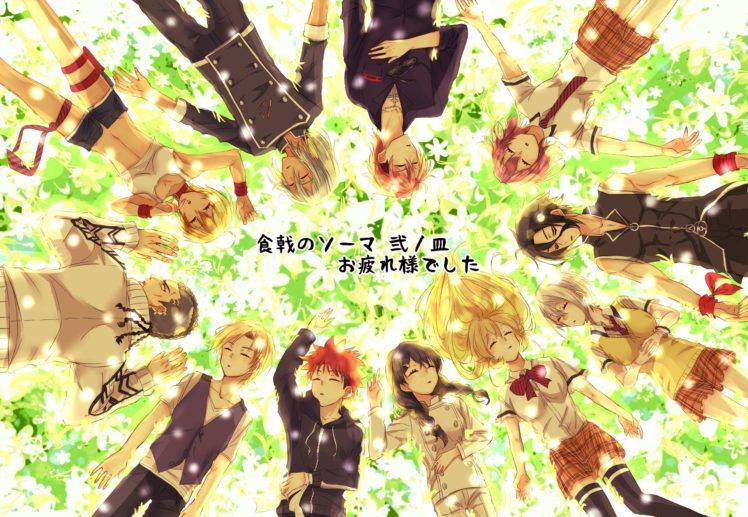Shokugeki no Souma, Nakiri Erina, Nakiri Alice, Yukihira Soma, Tadokoro Megumi, Hayama Akira, Aldini Takumi, Kurokiba Ryo, Mito Ikumi, Anime HD Wallpaper Desktop Background