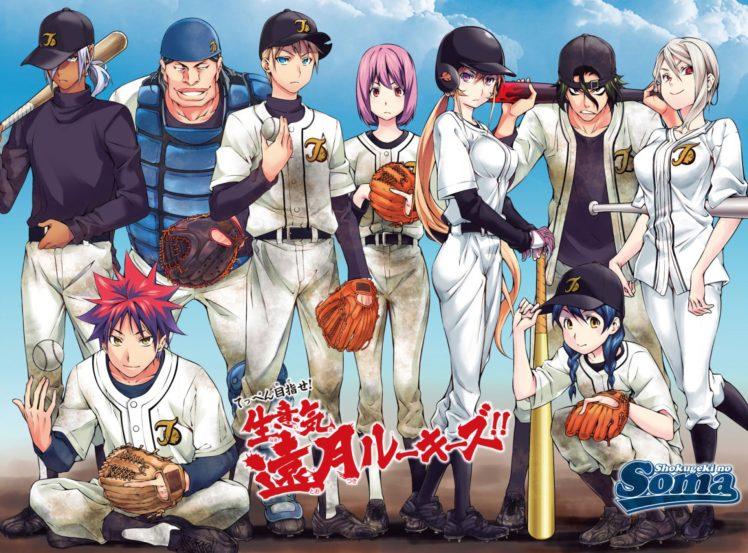 Shokugeki no Souma, Nakiri Erina, Nakiri Alice, Yukihira Soma, Tadokoro Megumi, Hayama Akira, Aldini Takumi, Kurokiba Ryo, Anime HD Wallpaper Desktop Background