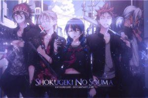 Shokugeki no Souma, Tadokoro Megumi, Yukihira Soma, Aldini Takumi, Kurokiba Ryo, Hayama Akira