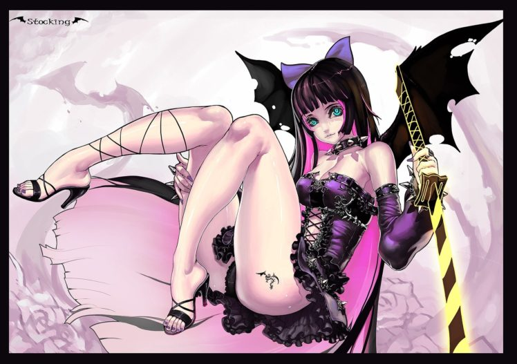 anime, Panty and Stocking with Garterbelt, Anarchy Stocking HD Wallpaper Desktop Background