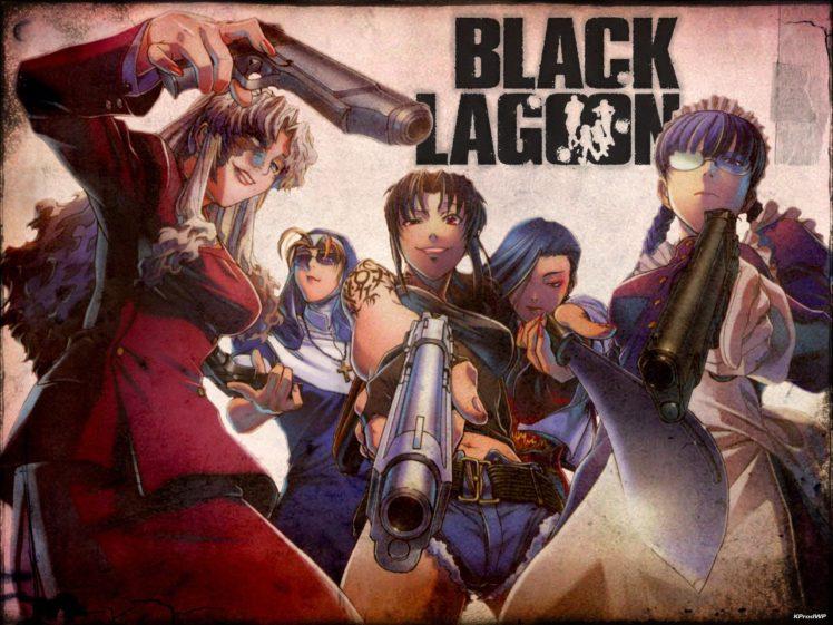 Black Lagoon, Revy, Roberta, Balalaika, Eda, Shenhua, Anime girls HD Wallpaper Desktop Background